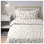 Комплект постельного белья IKEA ROSENFIBBLA 150х200 см цветочный узор 403.302.87, фото 4