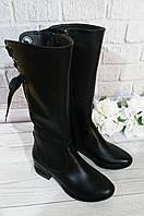 Кожаные сапоги на широком каблуке Обувь Vistani