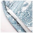 Комплект постельного белья IKEA JÄTTEVALLMO 200х200 см белый синий с узором 303.996.92, фото 3