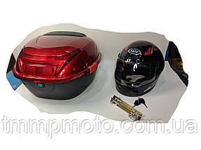Кофр красный капроновый со шлемом 30л, фото 3