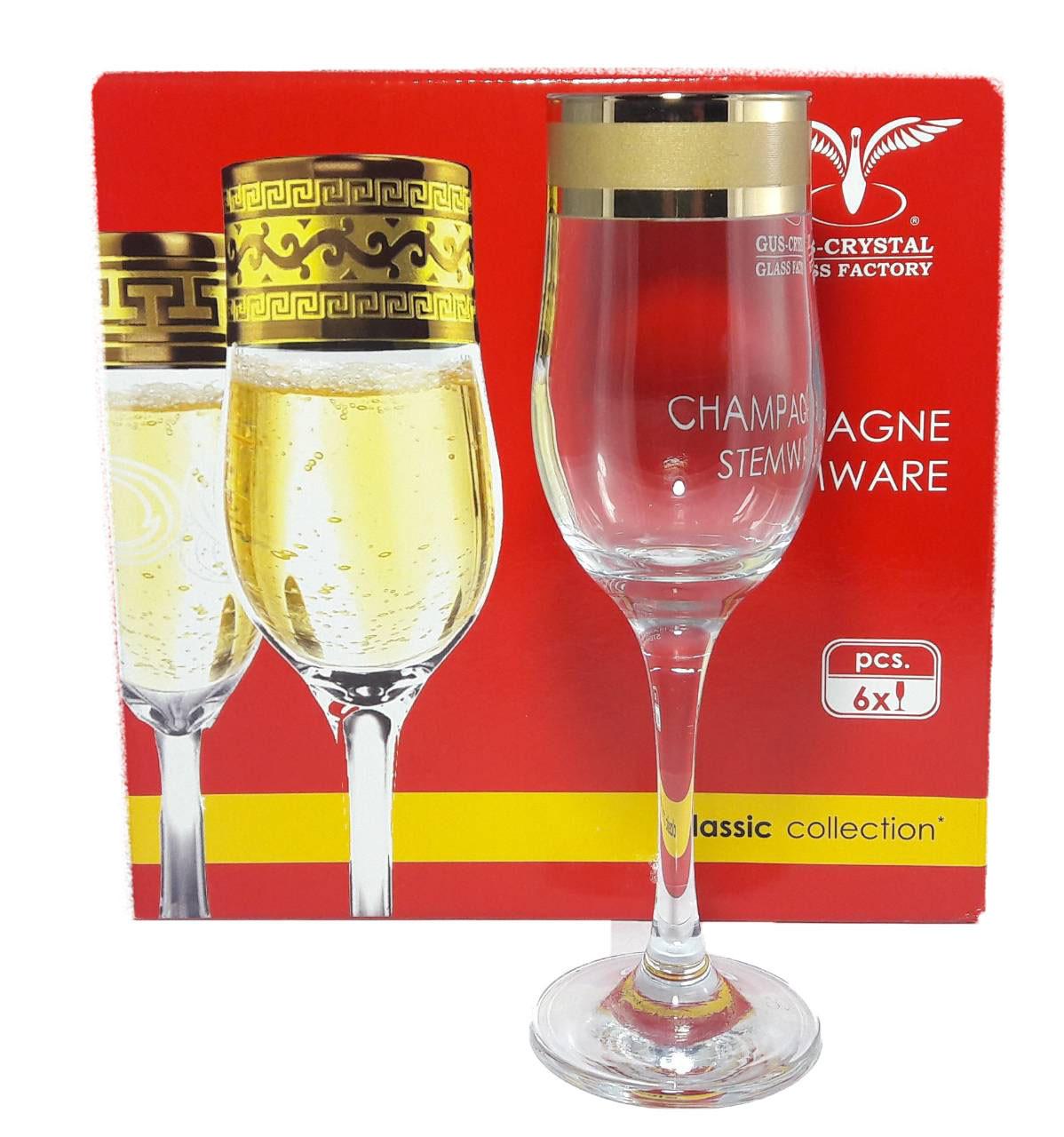 "Набор бокалов для шампанского. 200мл ""Ампир"" EAV79-160"