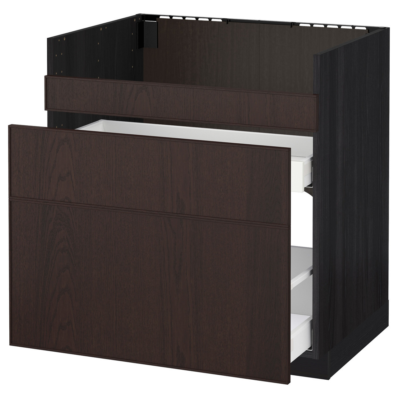 Тумба под раковину IKEA METOD HAVSEN Ekestad коричневая черная 692.805.69