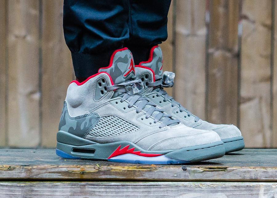 """Кроссовки Nike Air Jordan 5 Retro Camo """"Grey"""" (Серый камуфляж)"""