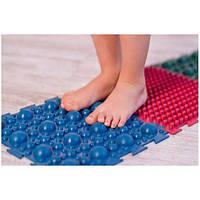 Детский ортопедический массажный коврик пазл татами для стоп, ног резиновый OBABY 1шт (MS-1209-3)