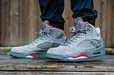 """Кроссовки Nike Air Jordan 5 Retro Camo """"Grey"""" (Серый камуфляж), фото 2"""
