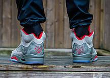 """Кроссовки Nike Air Jordan 5 Retro Camo """"Grey"""" (Серый камуфляж), фото 3"""