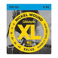 Струни для електрогітари D`ADDARIO EXL125 XL SUPER TOP / REGULAR BOTTOM (09-46)