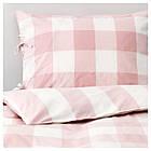 Комплект постельного белья IKEA EMMIE RUTA 150х200 см светло-розовый белый 203.800.80, фото 2