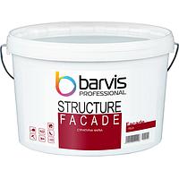 Структурна фарба на акриловому сполучному BARVIS Facade Structure Біла 10 л