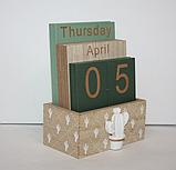 """Вечный календарь """"Кактус"""" Размер: 14,5*11*6 см, фото 2"""