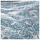 Комплект постельного белья IKEA JÄTTEVALLMO 150х200 см белый синий с узором 503.997.09, фото 2