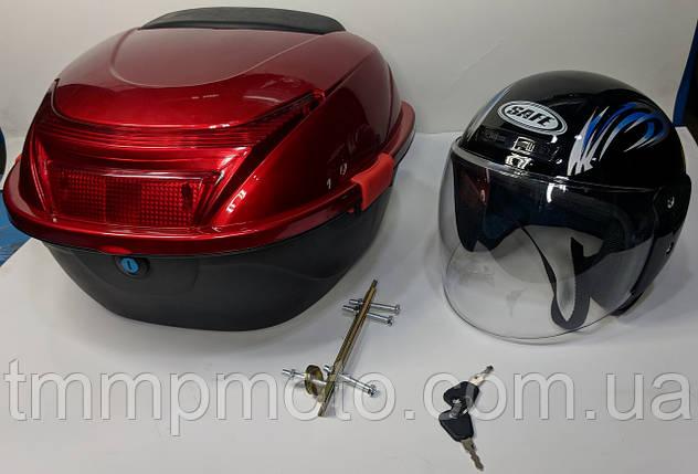 Кофр красный капроновый со шлемом 30л, фото 2