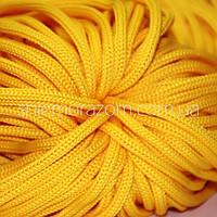 Шнур 5 мм желтый 100м