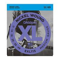 Cтруни для електрогітари D`ADDARIO EXL115 XL BLUES/JAZZ ROCK (11-49)