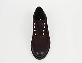 Туфли бордовые нубук Aspena 156, фото 3