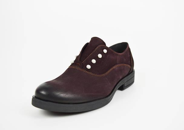 Туфли бордовые нубук Aspena 156, фото 2