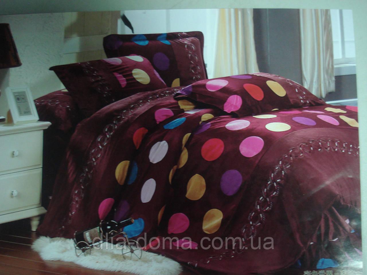 Велюровый двухспальный комплект постельного белья