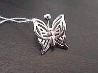 Серебряная серьга для пирсинга пупка. Артикул 7769-Р, фото 1