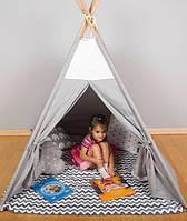 Детская палатка, хлопковый вигвам для детей, шалаш для деток, палатка для детей БЕЗ коврика и подушек, фото 1
