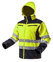 Сигнальная рабочая куртка softshell желтая (M/50)