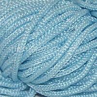 Шнур полужесткий 5 мм голубой 100м