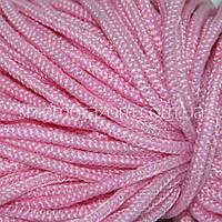 Шнур полужесткий 5 мм розовый 100м