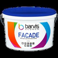 Фасадна дисперсійна фарба BARVIS Facade Econom Біла 2,5 л