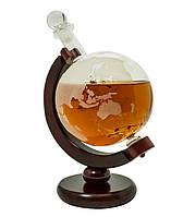"""Декантер для виски подарочный 850 мл. """"Навколо Світу"""""""