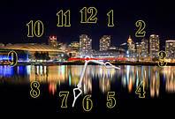 """Часы-картина 30х45 см """"Огни большого города"""" лучший подарок"""