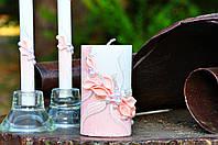 Набор свадебных свечей Bispol 3 шт пудровый (С-600)