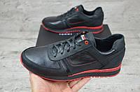Мужские кожаные кроссовки кеды Томми Хилфигер, фото 1