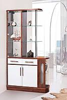Світ Меблів  барная стойка Браво-1 2150х1150х390мм кальвадос + белый глянец