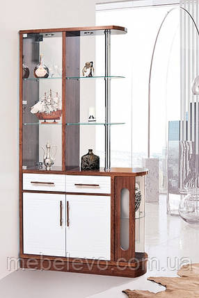 барная стойка Браво-1 2150х1150х390мм кальвадос + белый глянец Світ Меблів, фото 2