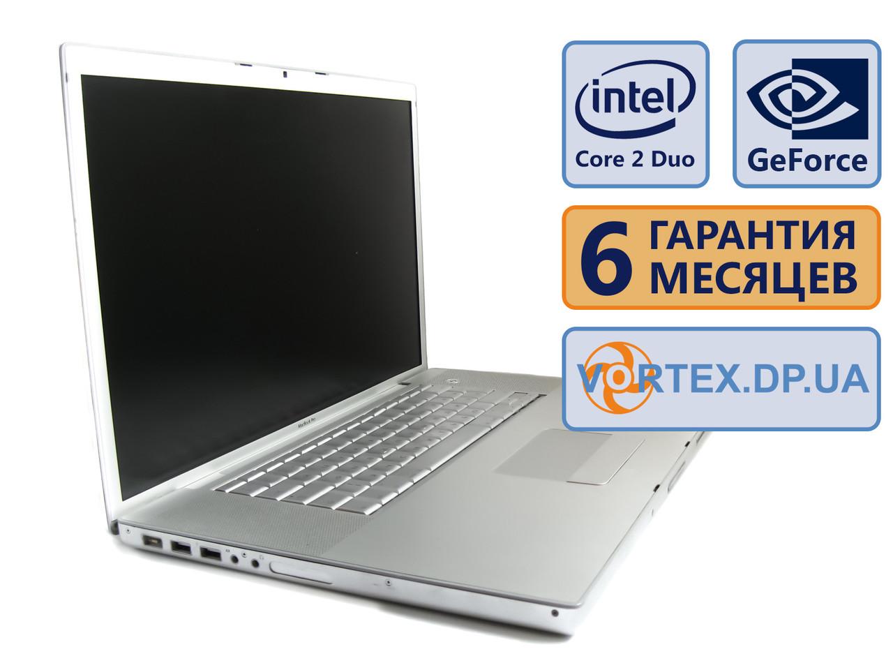 Ноутбук Apple A1229 17 (1440x900) / Intel Core 2 Duo T7700 (2x2.4GHz) / GeForce 8600M (НОВ) / RAM 4 Gb / HDD 250 Gb / АКБ нет / Сост. 9/10 БУ