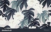 Фотообои холодные оттенки листвы