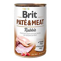 Brit Pate & Meat RABBIT 400 г - консервы для собак (кролик)