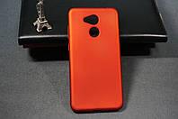 Чехол бампер силиконовый Huawei Honor 6C Pro (JMM-L22) Хуавей (Rock) цвет красный Soft-touch