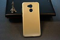 Чехол бампер силиконовый Huawei Honor 6C Pro (JMM-L22) Хуавей (Rock) цвет золотистый Soft-touch