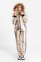 Стильный женский лыжный костюм цвет GOLD