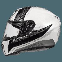 Мотошолом MT Rapide Duel Gloss Silver Pearl