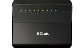 ADSL модем D-Link DSL-2640U 4xLan, 1xRj-11, Wi-Fi 150Mbit