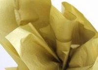 Бумага тишью золотая (металлизированная с одной стороны)