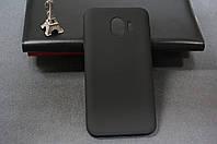 Чехол бампер силиконовый Samsung Galaxy J4 2018 SM J400 ( Самсунг ) (Rock) цвет черный Soft-touch