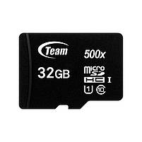 MicroSDHC  32GB UHS-I Class 10 Team Black + SD-adapter (TUSDH32GCL10U03), фото 2