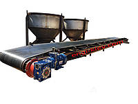 Стрічковий транспортер конвеєр, Ленточный конвейер транспортер, питатель, конвейер, винтовой питатель,