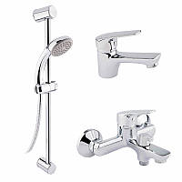 Набор 3 в 1 Q-tap Set 35-111 CRM для умывальника, ванна, стойка картридж 35 мм