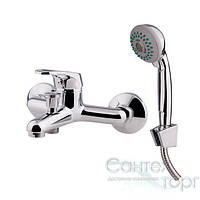 Картриджный латунный смеситель для ванны с душем Q-tap Light 006 CRM хром