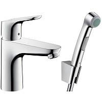 Смеситель для умывальника с гигиеническим душем Hansgrohe Focus 31927000