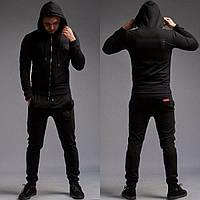 Мужской спортивный костюм Louis Vuitton Supreme черный брендовый ( реплика  ААА класса) 84b2e5fefe6