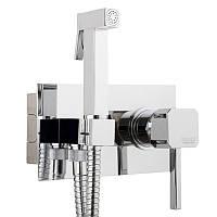 Гигиенический душ в туалете скрытого монтажа Bianchi Kubik INDKBK222000# CRM